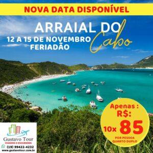 ARRAIAL DO CABO E CABO FRIO 12 A 15 DE NOVEMBRO