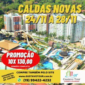 CALDAS NOVAS 24 A 28 DE NOVEMBRO
